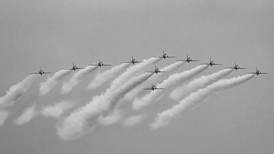 +Red 10&11, BAe, British Aerospace, Hawk T1, RAF, RIAT 2015, Red Arrows, Royal Air Force