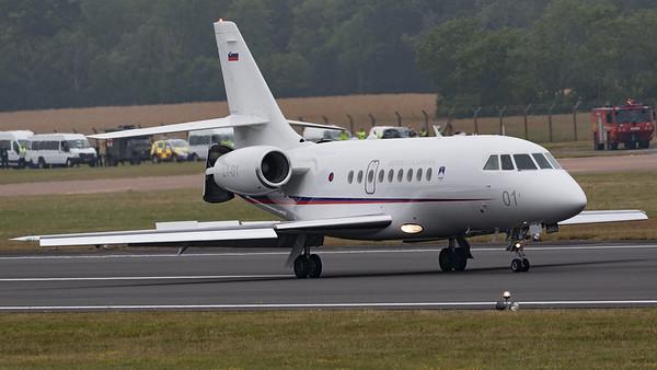 2000EX, Dassault, Falcon, L1-01, RIAT 2015, Republic of Slovenia