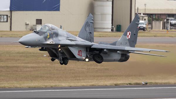 Fulcrum, Mig-29, Mikoyan-Gurevich, Polish Air Force, RIAT 2015