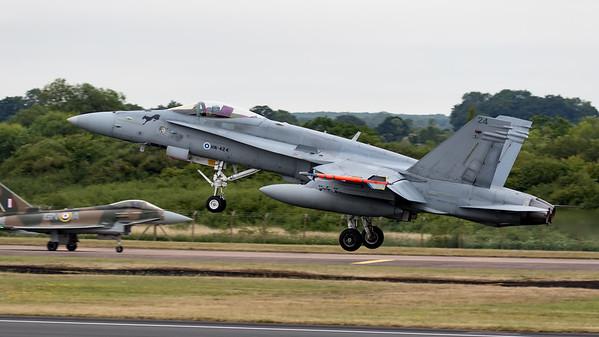 Boeing, F/A-18, F/A-18C, Finnish Air Force, HN-424, Hornet, RIAT, RIAT2015