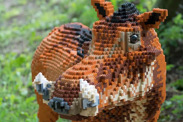 LEGO Bricks, Marwell Zoo, The Great Brick Safari @ MarWell Zoo, City of Winchester,England - 05/08/2017