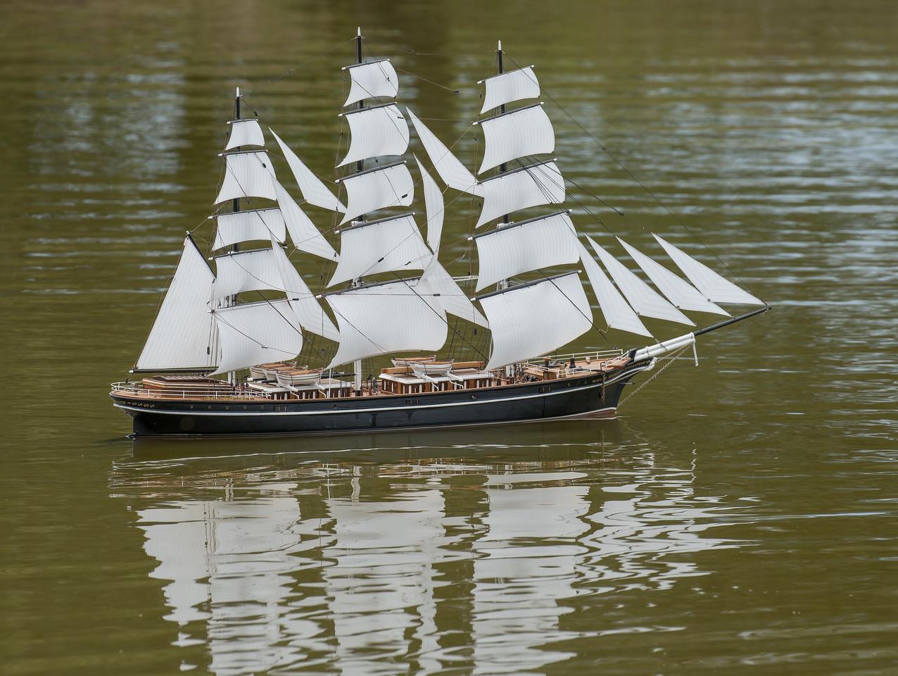 Black Adder, David Edwards, Navy Day 2017, SRCMBC, Setley Pond, Solent Radio Control Model Boat Club, clipper ship