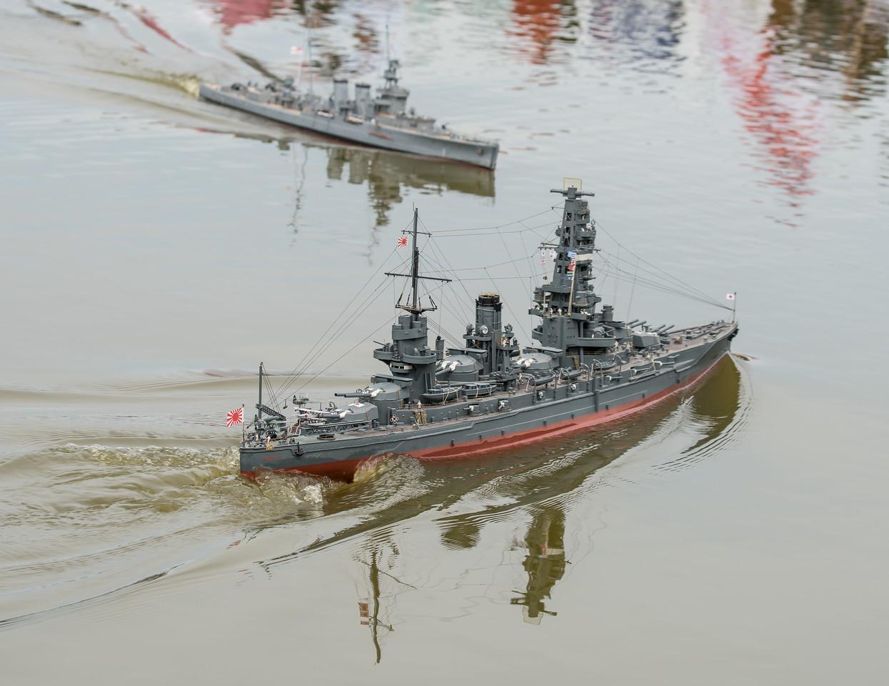 C-class light cruiser, David McNair-Taylor, HMS Curacoa, IJN Yamashiro, Japanese Fusō-class battleship, Navy Day 2017, SRCMBC, Setley Pond, Solent Radio Control Model Boat Club, Thanasis Kanias