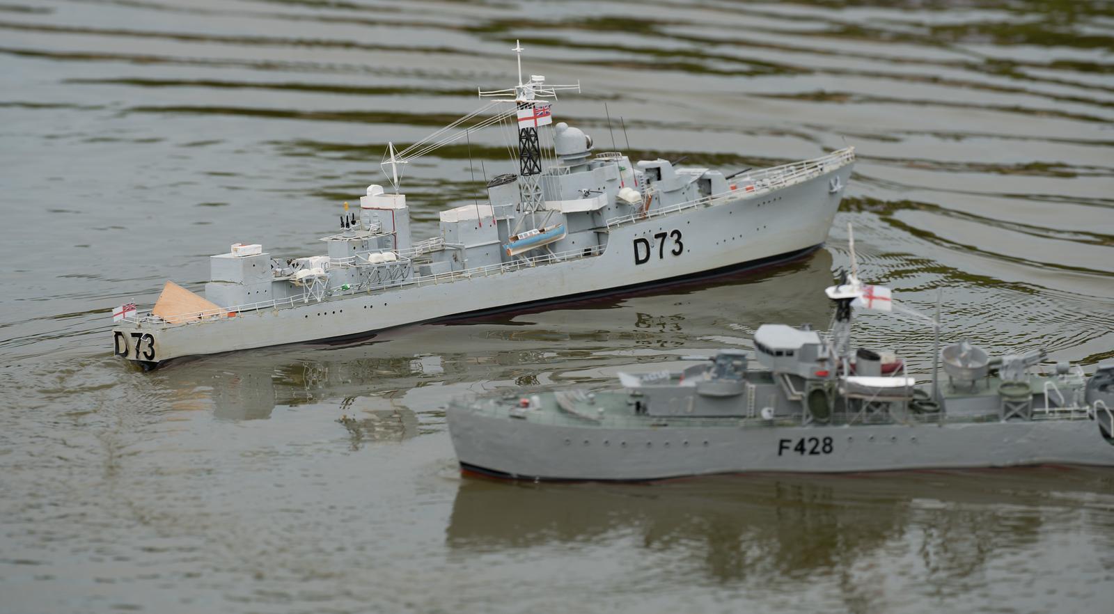 C-Class Destroyer, D73, F428, Frigate, HMS Cavalier, HMS Loch Alvie, Navy Day 2017, Richard Coombs, SRCMBC, Setley Pond, Solent Radio Control Model Boat Club