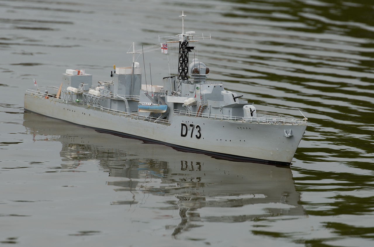 C-Class Destroyer, D73, HMS Cavalier, Navy Day 2017, Richard Coombs, SRCMBC, Setley Pond, Solent Radio Control Model Boat Club