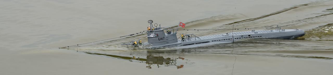 Brian Rapley, Navy Day 2017, SRCMBC, Setley Pond, Solent Radio Control Model Boat Club, Submarine, U-Boat, U47