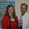 <b>Plein Air art judge Sheryl Hughes with organizer Steve Horowitz</b> Everglades Day, February 14, 2015 <i>- Anthony Lang</i>