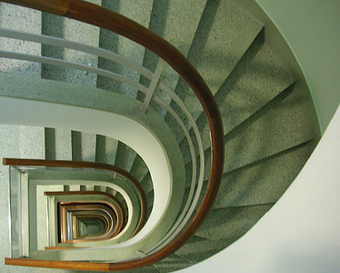 """Looking Down the Staircase by shariq  <font size=""""+1"""">WINNER of <a href=""""http://www.photographycorner.com/contest-corner-challenge/contest-corner-challenge-82-looking-down"""">Contest Corner Challenge #82: Looking Down</a>.</font>"""