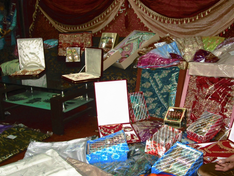 CCC94-02 - Traditional Display of Gifts Given to a South Asian Bride by In-Laws by Anadil