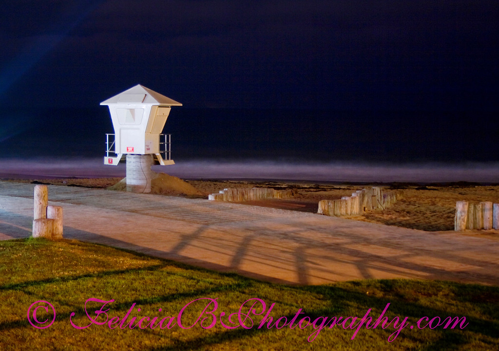 The Lonely Lifeguard Station - I went to Laguna Beach late Saturday night and re-shot this based on a prior popular photo I had taken.  This time, I moved the trash cans out of the way and  got closer to the Lifeguard Station.