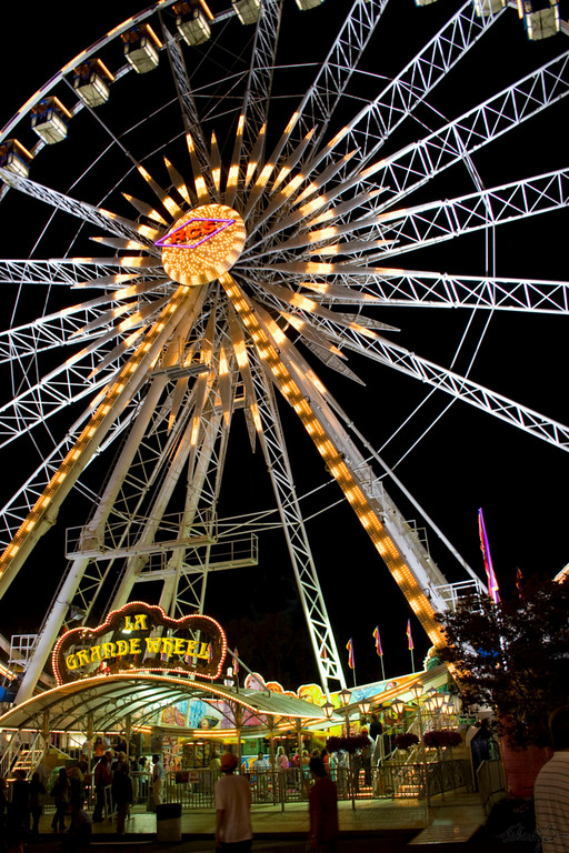 """Ferris Wheel - July's Entry """"A Study in Contrasts"""""""