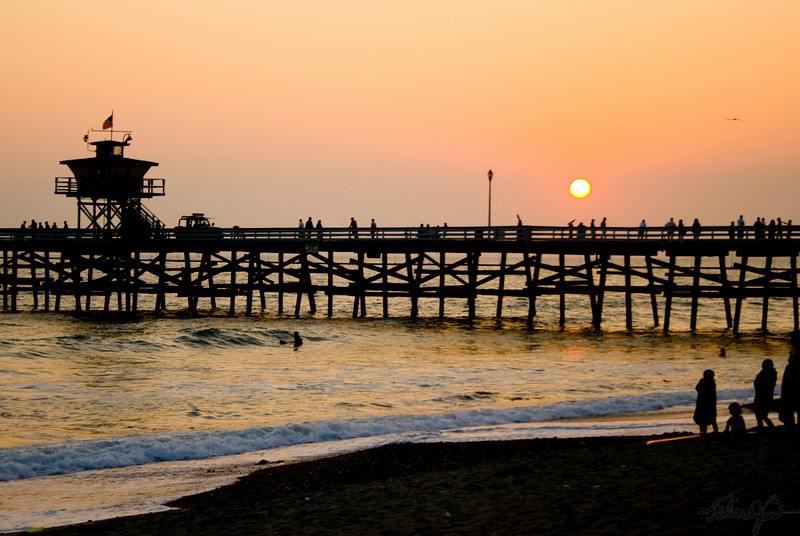 """San Clemente Pier"" for the Summer Heat July/August Saddleback Challenge"