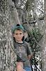 Description - Boy in Cypress Tree <b>Title - Tree Hugger 2</b> <i>- William Burnett</i>