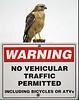 Description - Red-shouldered Hawk <b>Title - Warning</b> <i>- Arnold Dubin</i>