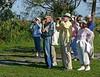 Description - Birdwatchers <b>Title - Saturday Morning Bird Walk</b> <i>- Charlotte Rasmussen</i>