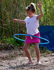Description - Everglades Day - Girl with Hula Hoop <b>Title - Girl With Hula Hoop</b> <i>- Tom Rasmussen</i>
