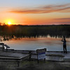 Description - Photographer On Fishing Pier At Sunset <b>Title - Shooting the Sunset</b> <i>- Fran Swirsky</i>