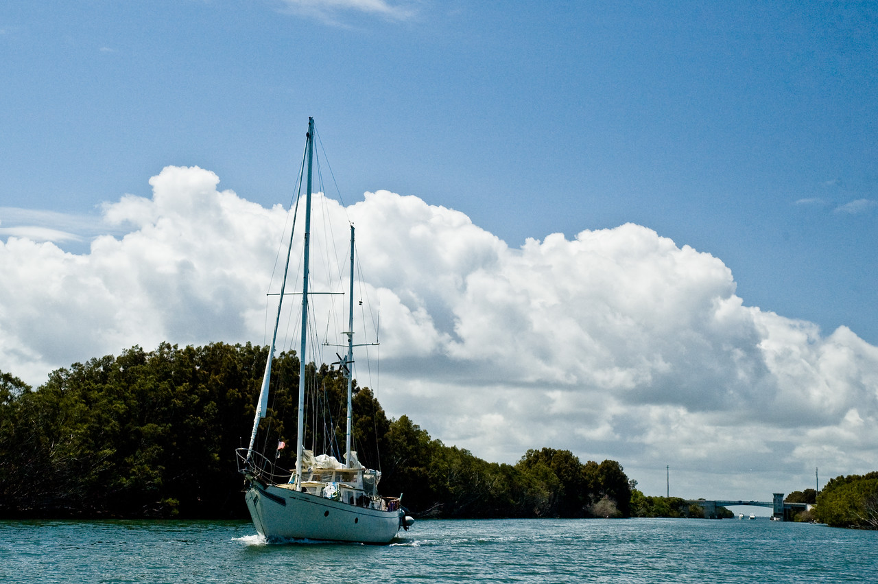 This was published on the Smithsonian Marine Station at Fort Pierce, FL - Sailboat on the Haulover Canal