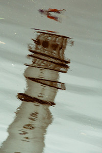 Day 07 - Distort a Lighthouse   (a breeze moved the water of the lake, it was hard to choose between all the different distortions - the specs are in the water itself, not sensordust and the thingy on top is a flag)