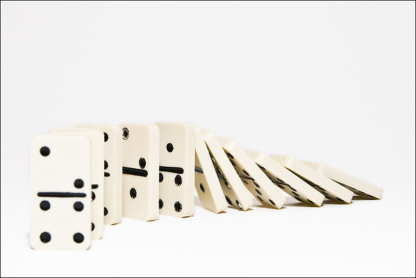 Day 13 - Domino D Day  (Strange how this seems to be a lot whiter on my laptop)