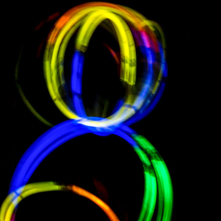 Playing with glowsticks always reminds me of a birthdayparty at the Min's Mansion a few summers ago.