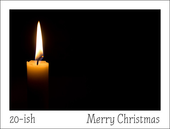 Twelfth hour of Christmas  And of course there is candlelight to add to the festive mood.