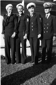 Old photo L to R - Floyd Viers, Buddy Viers, Douglas Viers, and Jim Garren.~ All Navy