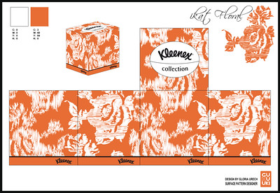 TALENHOUSE & KLEENEX - Ikat Floral  Box Design