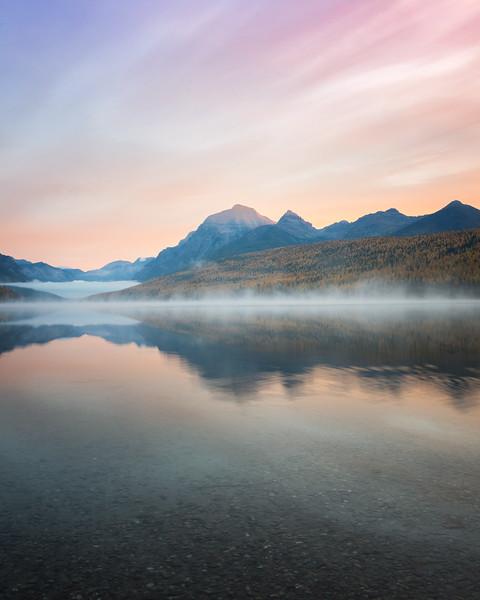 Sunrise at Bowman Lake