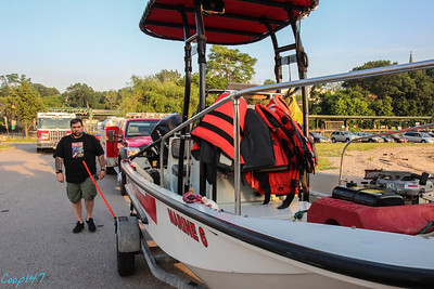 Boat Opperations with Garrison FD, 6-17-14