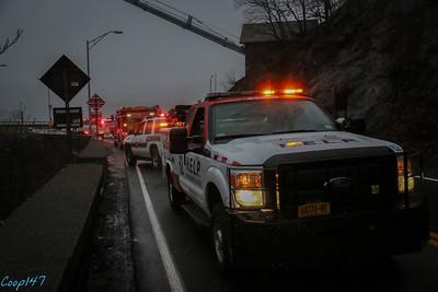 Car Into Wall, Bear Mt Bridge Rd. 12-24-14
