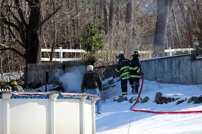 Fence/Brush Fire Morris Dr.