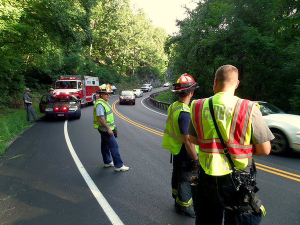 Motorcycle acident, Bear Mt. Bridge Road