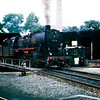DB 2-10-0 Class 50 No.50-419 on the turntable at Konstanz in August 1967.