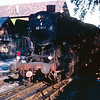 Class 50 2-10-0 no.1037 waiting to come on to the turntable at Konstanz MPD in the evening light, August 1967.