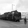 The classic shot of the flag man walking in front of an SNCF Pacific leaving Boulogne Maritime on World Cup Final Day in 1966.