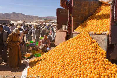 Oranges at Market at Agdz
