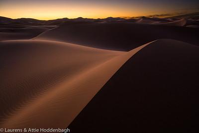 Sunrise at the Dunes of Hassi Labiad