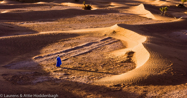 Man at the Dunes of Mhamid