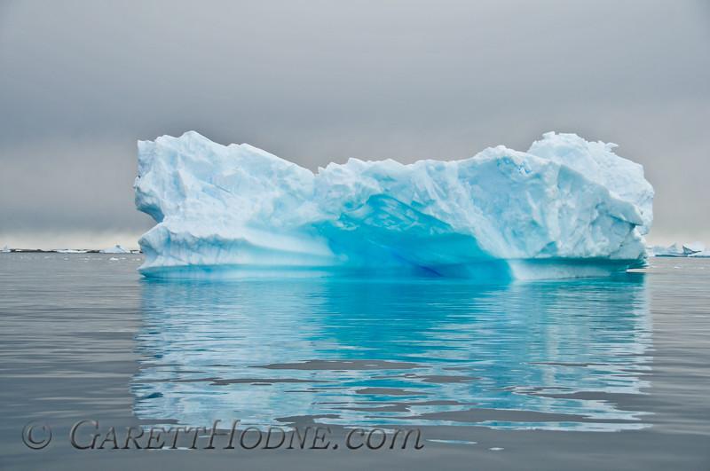 Stranded iceberg near Planeau Island