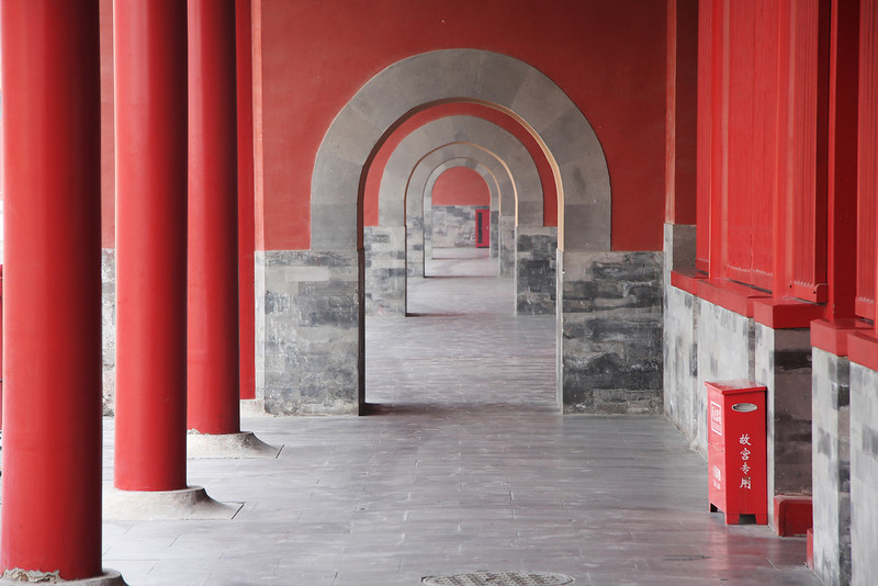 Doorways. The Forbidden City, Beijing, China