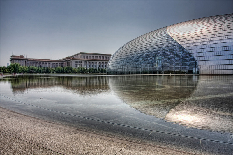 The Beijing Opera House, Beijing, China (HDR).