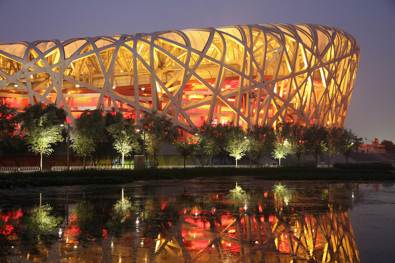 The Beijing Olympic Stadium (The Bird's Nest).