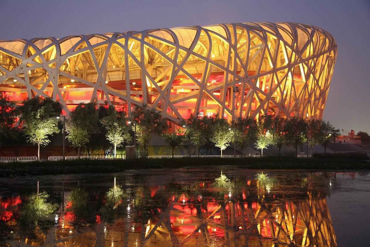 The Beijing Olympic Stadium (The Bird's Nest).