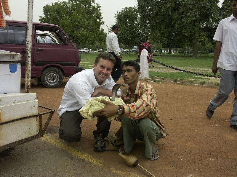 Delhi, India: Snakecharmer