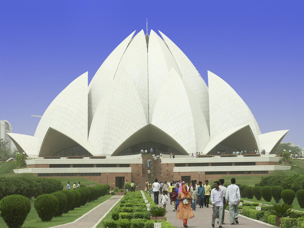 Delhi, India: The Ba'hai House of Workship