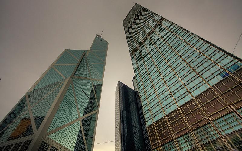 Vertigo: The Bank of China Building, Hong Kong, China (HDR Image)