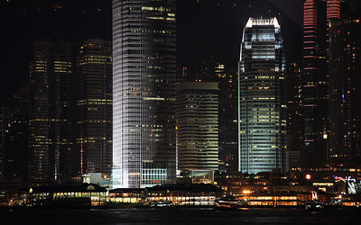 IFC at Night: Hong Kong