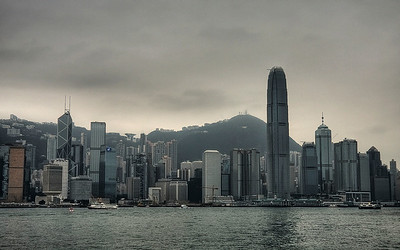 Glass & Steel: Hong Kong, China (HDR Image)