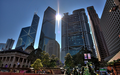 The Bank of China Tower & HSBC World Headquarters (HDR Image)